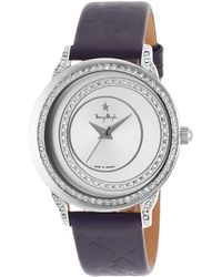 Thierry Mugler - Women's Purple Genuine Leather Silver-tone Dial - Lyst