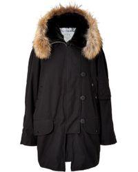 McQ by Alexander McQueen Fur Trimmed Parka - Lyst