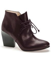 Atalanta Weller Lace Burgundy Boots. - Lyst