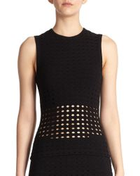 T By Alexander Wang Perforated Tank - Lyst