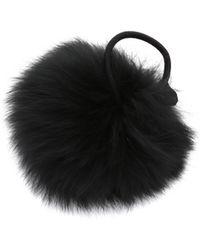 Eugenia Kim Antonia Fur Hair Tie - Black - Lyst