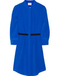 Band Of Outsiders Washed Silk-crepe Dress - Lyst