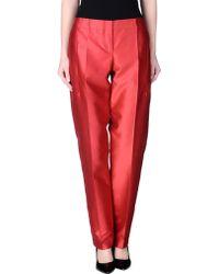 Giorgio Armani Casual Pants red - Lyst