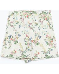 Zara Printed Short High Waist - Lyst