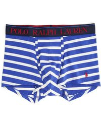 Ralph Lauren Blue And White Striped Boxer Shorts blue - Lyst