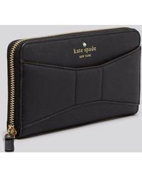 Kate Spade Wallet - 2 Park Avenue Saffiano Lacey Continental - Lyst