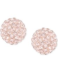 Swarovski Rose-Gold-Plated Crystal Stud Earrings pink - Lyst