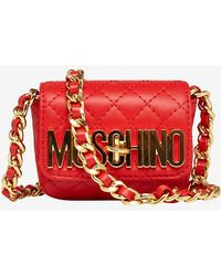 Moschino Mini Belted Fanny Pack Red - Lyst