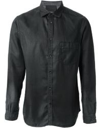 Diesel Black Gold Distressed Shirt - Lyst