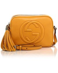 Gucci Soho Leather Disco Bag yellow - Lyst