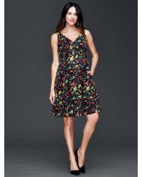 Gap Double V-neck Sleeveless Confetti Dress - Multicolor