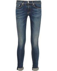 Rag & Bone Mid-rise Skinny Jeans - Lyst
