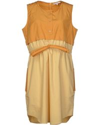 Carven Short Dress orange - Lyst
