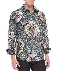 Robert Graham Tiki Hut Long-Sleeve Sport Shirt - Lyst