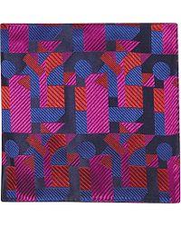 Duchamp Geometric Pocket Square - For Men - Lyst