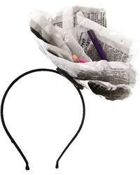 CA4LA Newspaper Headband - Gray