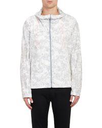 Jil Sander Abstract Floral-print Hooded Jacket - Lyst