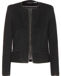 Alice + Olivia Jersey Jacket with Leather Trims - Lyst