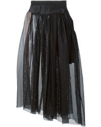 Y-3 Mesh Layered Skirt - Lyst