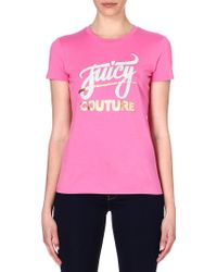 Juicy Couture Stud Embellished Tshirt Highlighter - Lyst
