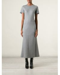 Cedric Charlier Flared Long Dress - Lyst