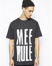 Cheap Monday Tshirt with Mee Rule Print - Lyst
