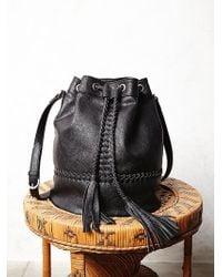 Free People Tempest Bucket Bag black - Lyst