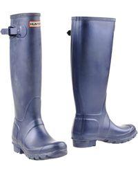 Hunter Boots blue - Lyst