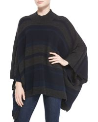 Theory Florencia S Striped Over Size Poncho - Lyst