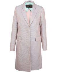Paul Smith Black Label - Light Pink Double-Face Cotton Epsom Coat - Lyst