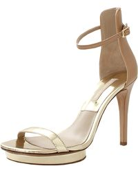 Michael Kors Doris Platform Sandal gold - Lyst