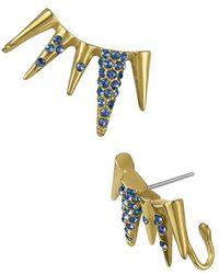 Sam Edelman - Pave Spike Ear Cuffs - Sapphire - Lyst