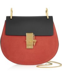Chloé Drew Leather and Suede Shoulder Bag - Lyst