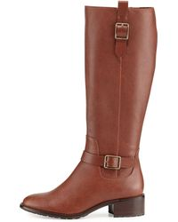Cole Haan Kenmare Leather Riding Boot - Lyst