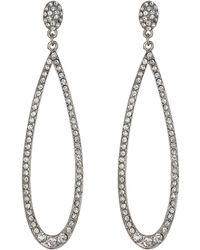 Kenneth Jay Lane Silver Earrings - Lyst