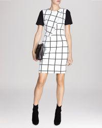 Karen Millen Dress - Graphic Check Collection - Lyst