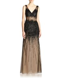 Basix Black Label Beaded Gown - Lyst