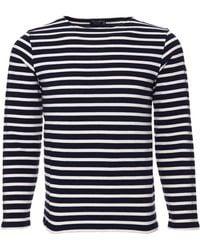 Saint James Heavy Weight Striped Jersey Shirt blue - Lyst