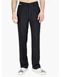 Marc Jacobs Men'S Navy Pleated Trousers - Lyst
