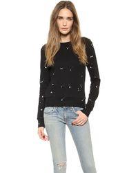 Rag & Bone Splatter Paint Sweatshirt Black - Lyst