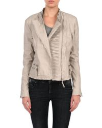 Blank Vegan Leather Jacket - Lyst