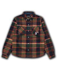 BBCICECREAM Check Long Sleeve Shirt Green