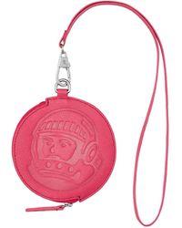 BBCICECREAM Leather Coin Pouch - Pink