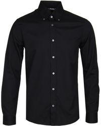 Pretty Green - Black Arbor Button-down Shirt - Lyst