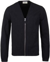 Folk - Sulka Black Cotton Jacket - Lyst