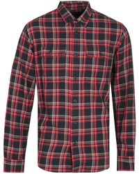 Filson Scout Black, Red & Brown Plaid Shirt