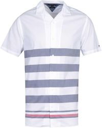 Tommy Hilfiger Regular Fit Breton Stripe White Shirt