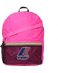 K-Way Francois Pink Packable Backpack