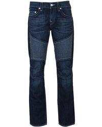 True Religion - Moto Slim Natural Sn Allover Jeans - Lyst