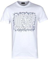 DIESEL White T-diego-sl Short Sleeve T-shirt